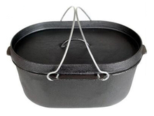 Oval Pre-seasoned Cast Iron Dutch Oven