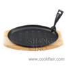 Cast Iron Sizzling Platter with Serving Tray
