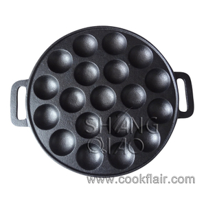 19 Holes Cast Iron Poffertjes Pan