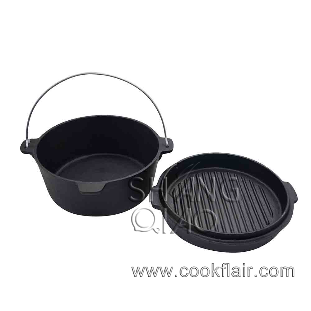 Heavy-duty Cast Iron Dutch Oven