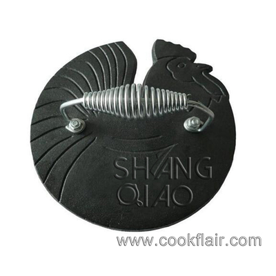 Rooster Shaped Cast Iron Bacon Press&grill Press