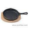 Mini Cast Iron Skillet with Wooden Plate