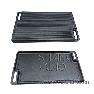 Rectangular Cast Iron Reversible Griddle Skillet