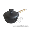 Cast Iron Saucepan with Wooden Handle