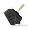 Cast Iron Rectangular Grill Pan with Removal Handle