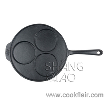 Cast Iron 3-hole Pancake Griddle