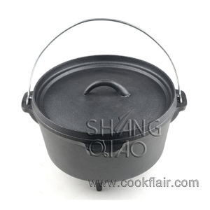 Pre-seasoned Cast Iron Camping Dutch Oven with Legs