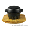 Cast Iron Garlic Prawn Pot With Wooden Base