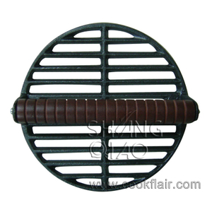 Round Cast Iron Grill Press