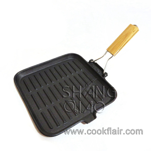 Pre-seasoned Cast Iron Square Grill Griddle