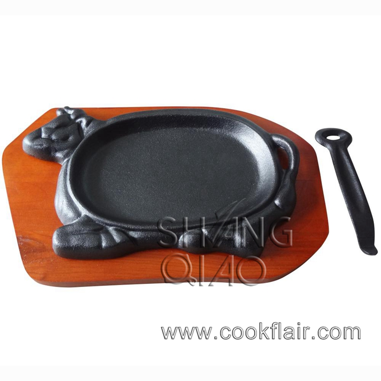 Cow Shape Cast Iron Sizzling Plate Set